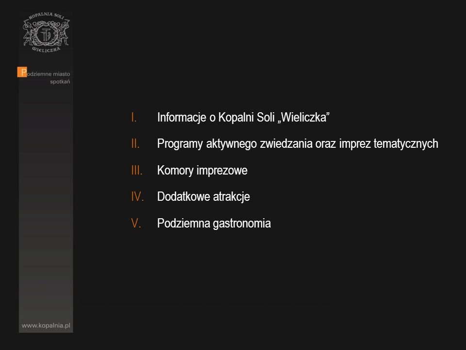 """Informacje o Kopalni Soli """"Wieliczka"""