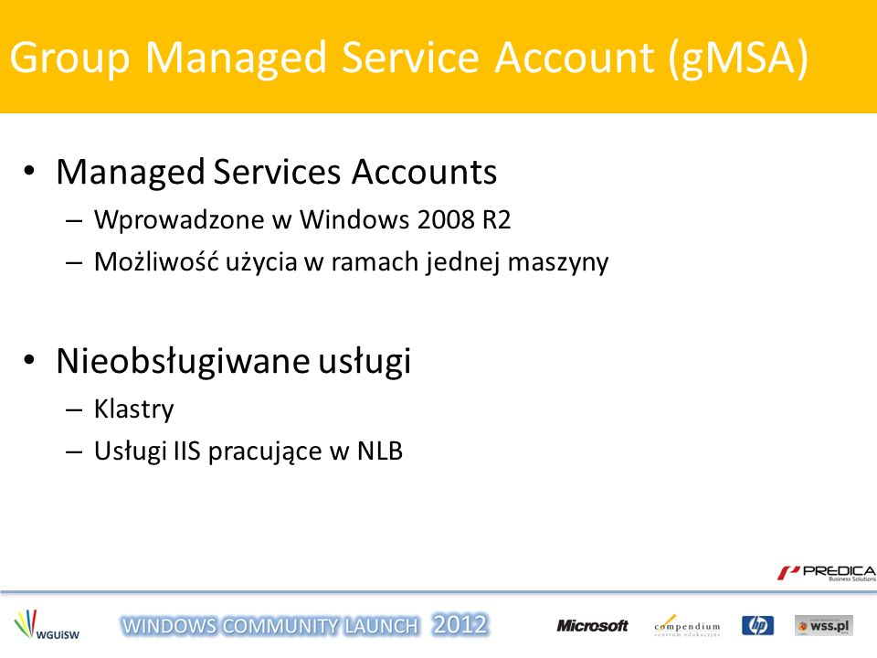 Group Managed Service Account (gMSA)