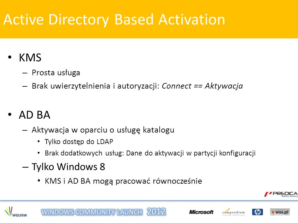 Active Directory Based Activation