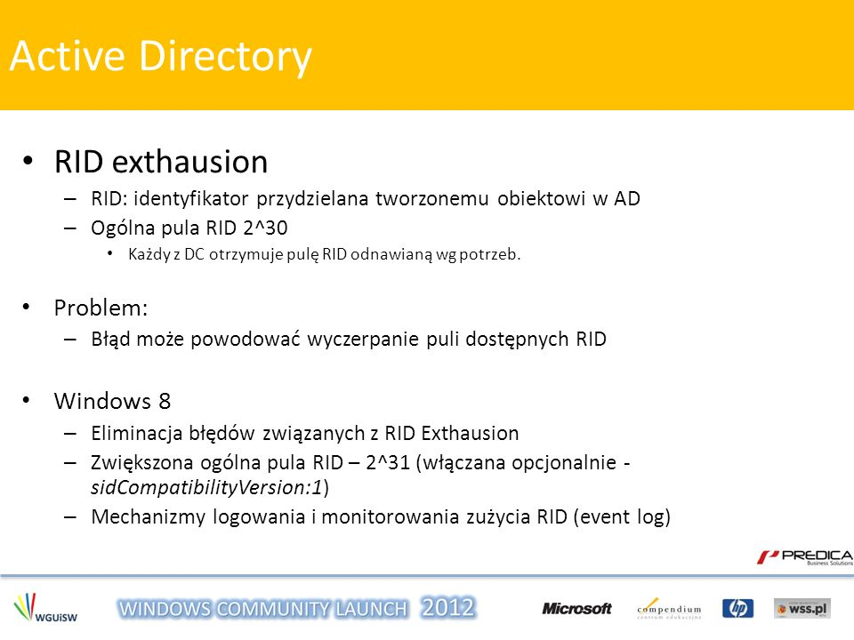 Active Directory RID exthausion Problem: Windows 8