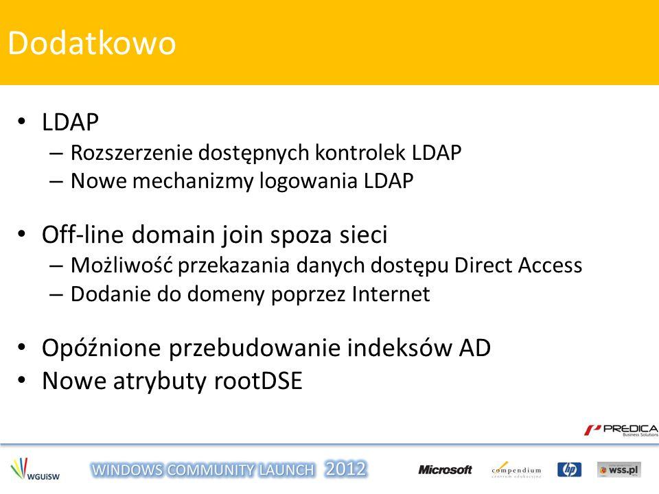 Dodatkowo LDAP Off-line domain join spoza sieci