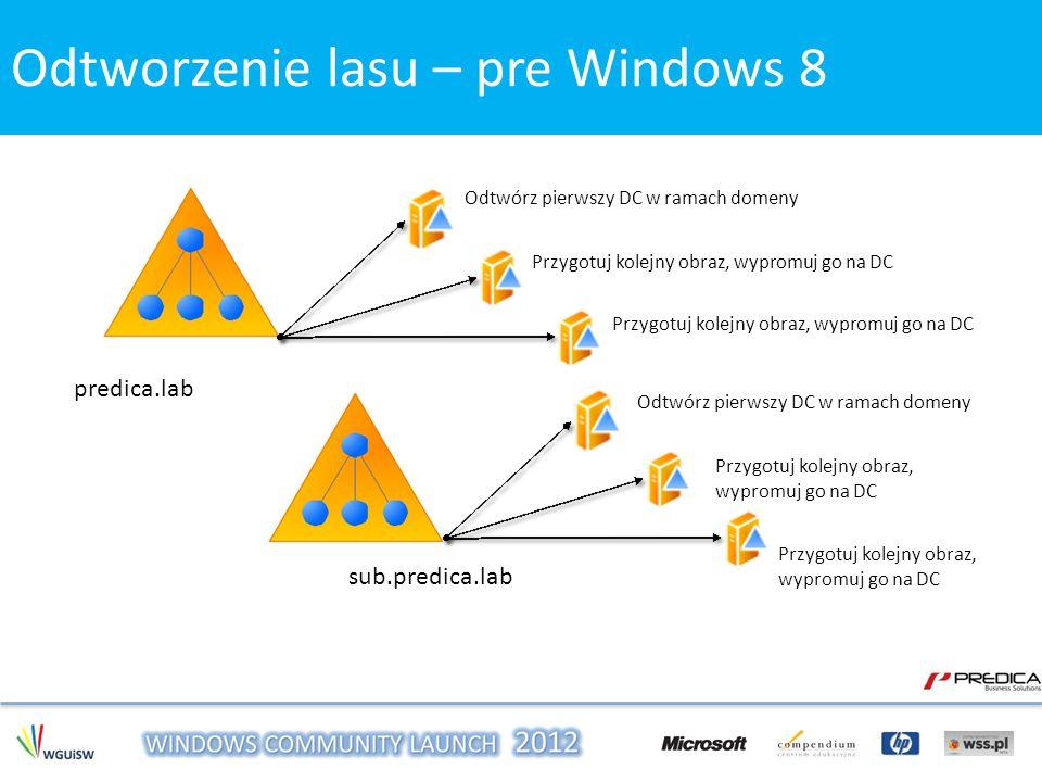 Odtworzenie lasu – pre Windows 8