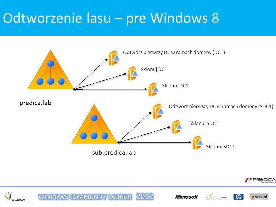 Odtworzenie lasu – pre Windows 8 Odtworzenie lasu – Windows 8
