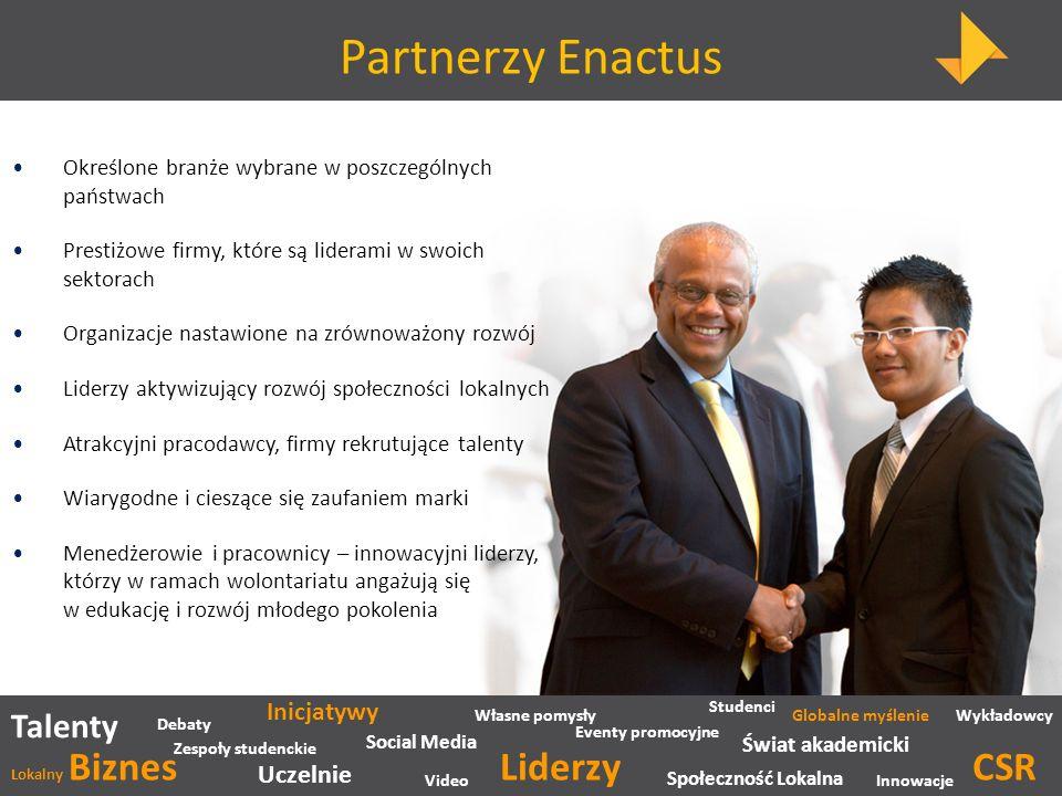 Partnerzy Enactus Liderzy CSR Talenty Inicjatywy Uczelnie