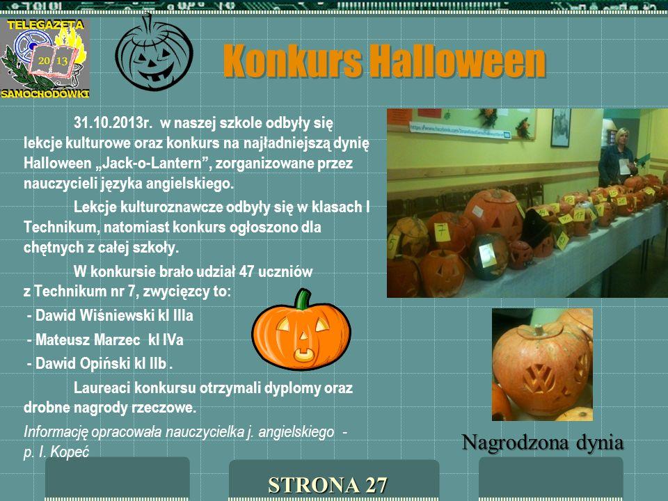 Konkurs Halloween Nagrodzona dynia STRONA 27