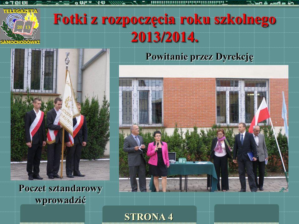 Fotki z rozpoczęcia roku szkolnego 2013/2014.
