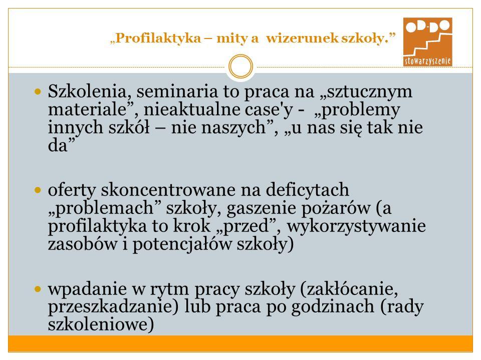 """""""Profilaktyka – mity a wizerunek szkoły."""