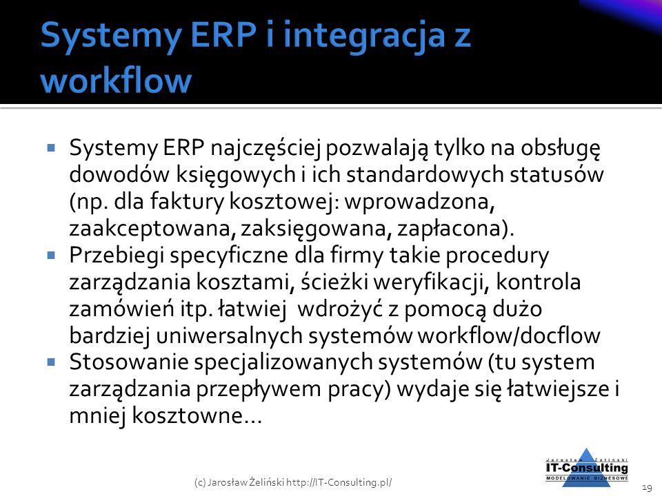 Systemy ERP i integracja z workflow