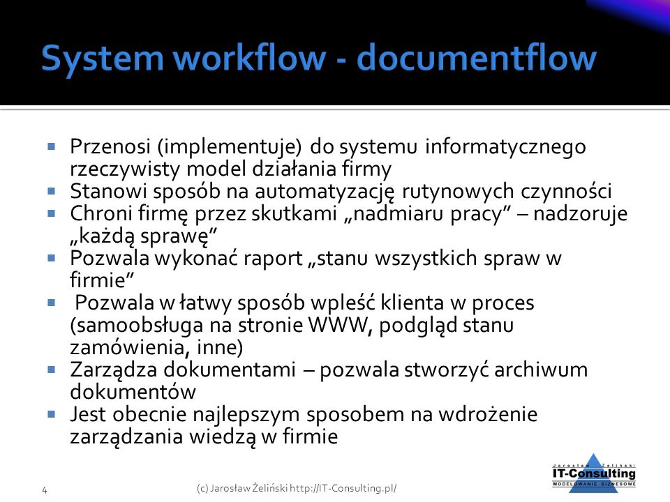 System workflow - documentflow