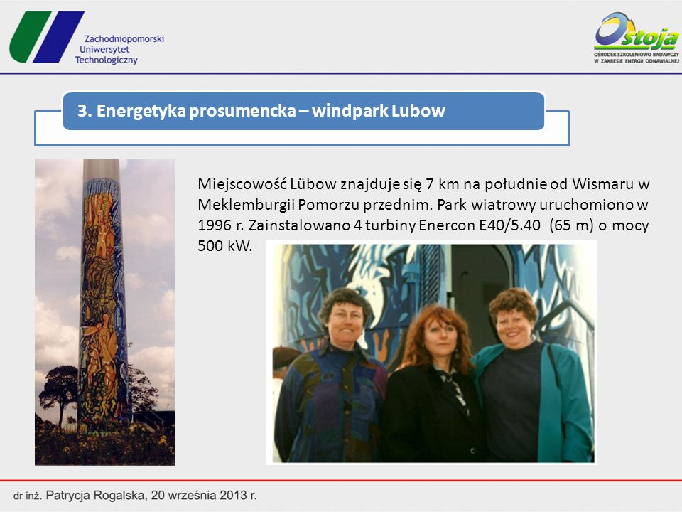 3. Energetyka prosumencka – windpark Lubow