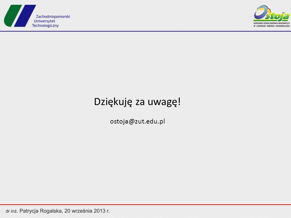Dziękuję za uwagę! ostoja@zut.edu.pl