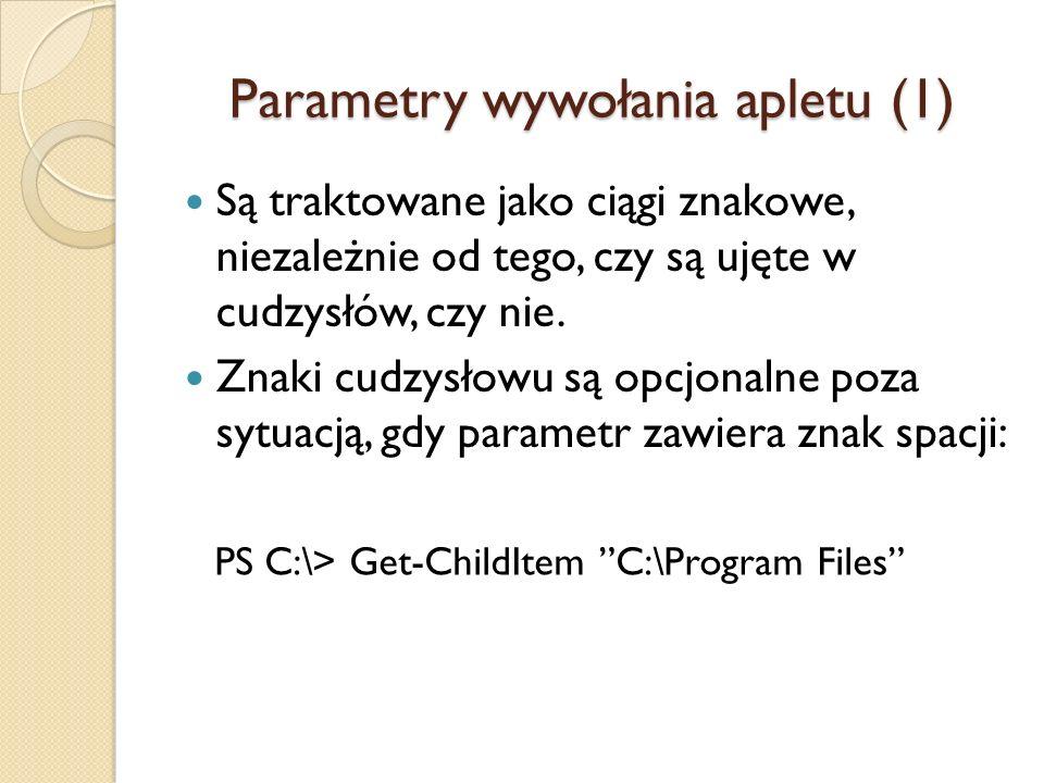 Parametry wywołania apletu (1)