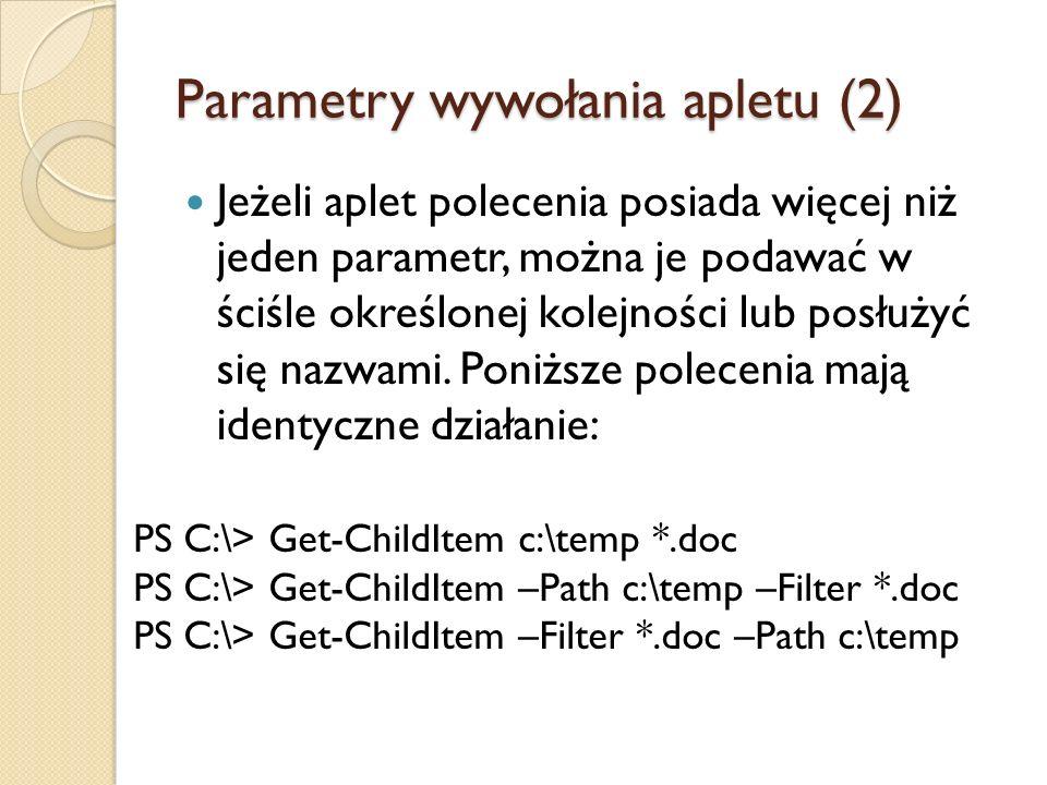 Parametry wywołania apletu (2)