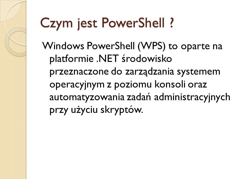 Czym jest PowerShell