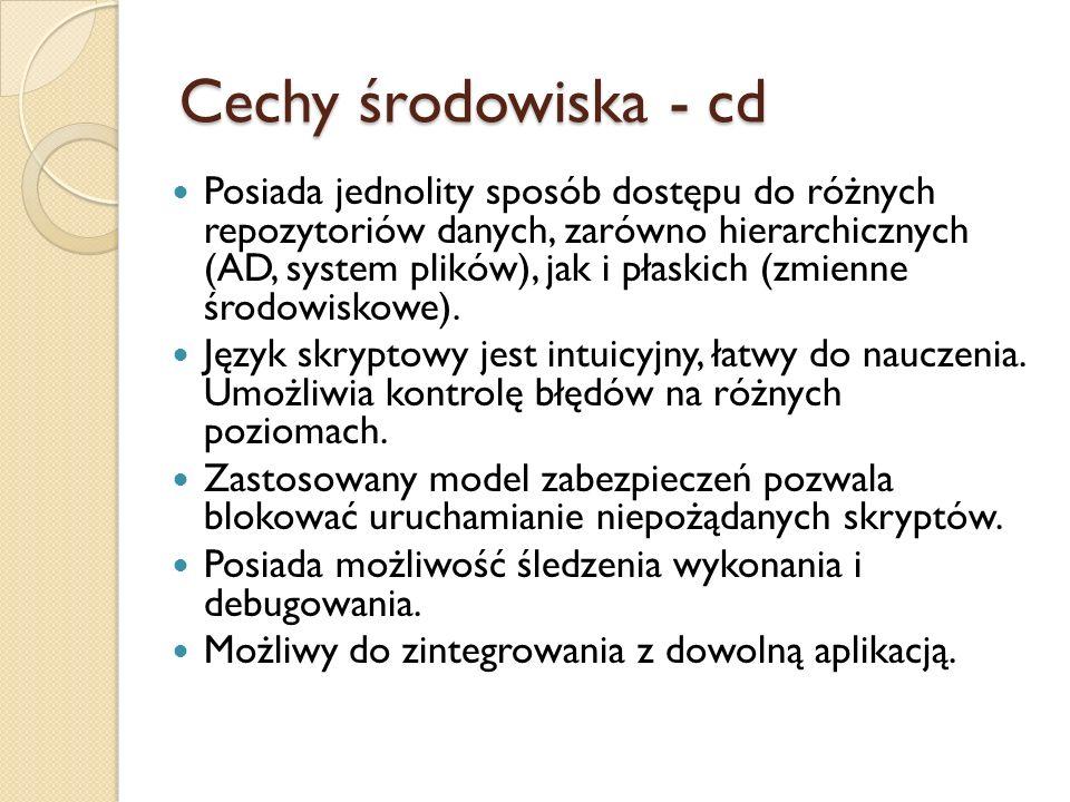 Cechy środowiska - cd