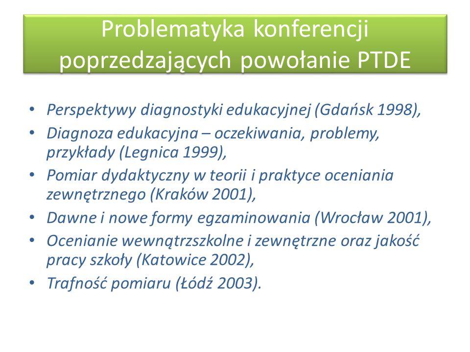 Problematyka konferencji poprzedzających powołanie PTDE