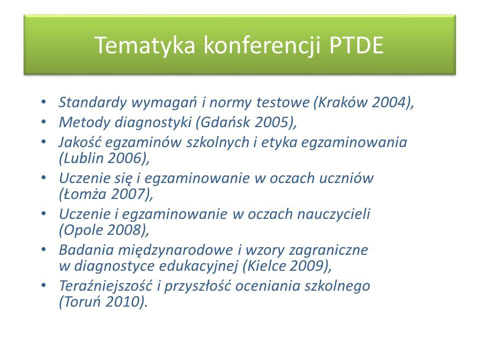 Tematyka konferencji PTDE