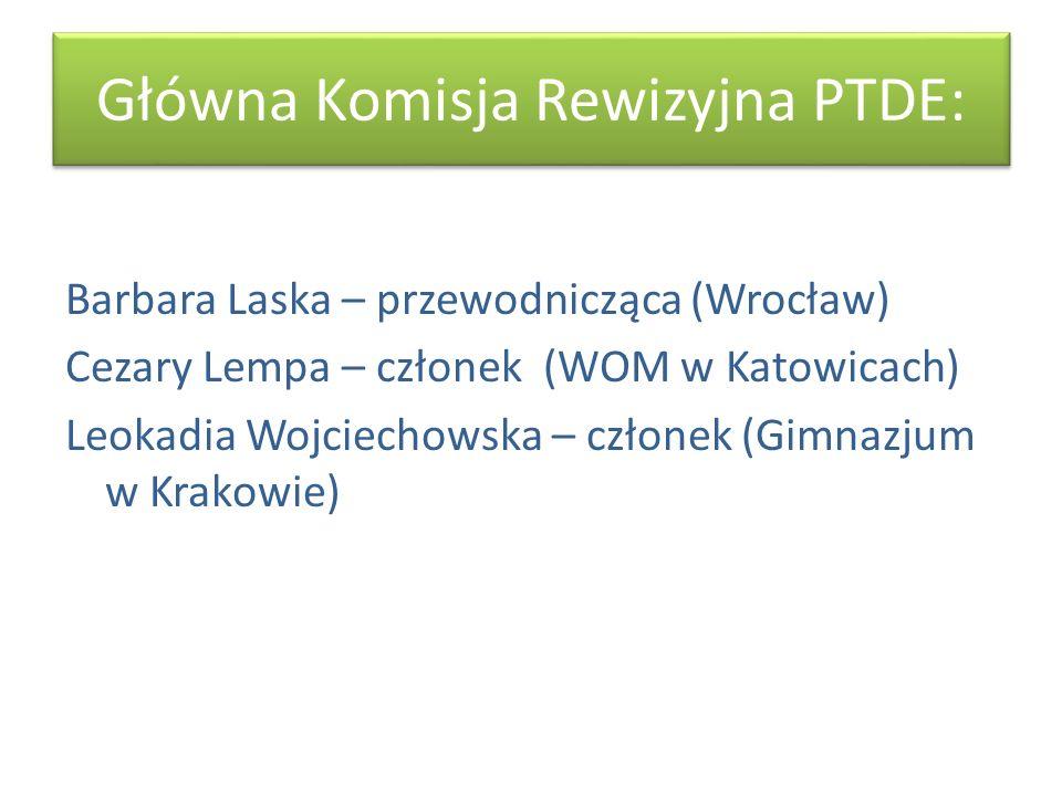 Główna Komisja Rewizyjna PTDE:
