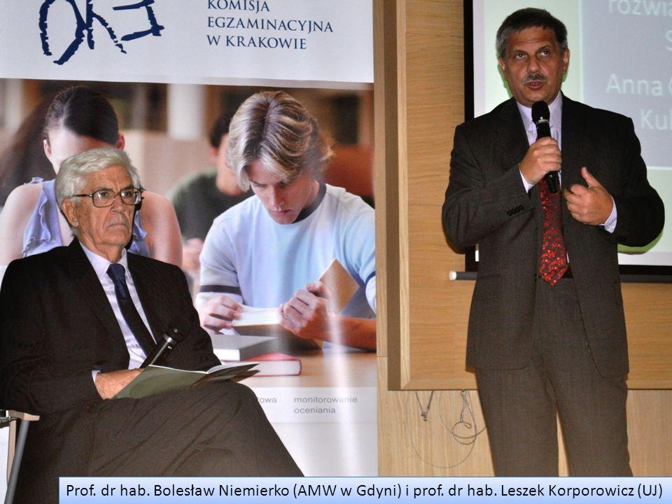 Prof. dr hab. Bolesław Niemierko (AMW w Gdyni) i prof. dr hab