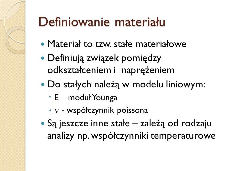 Definiowanie materiału