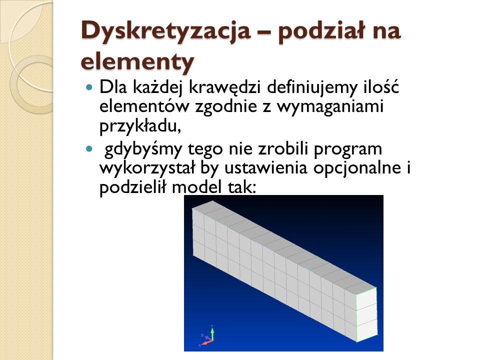 Dyskretyzacja – podział na elementy