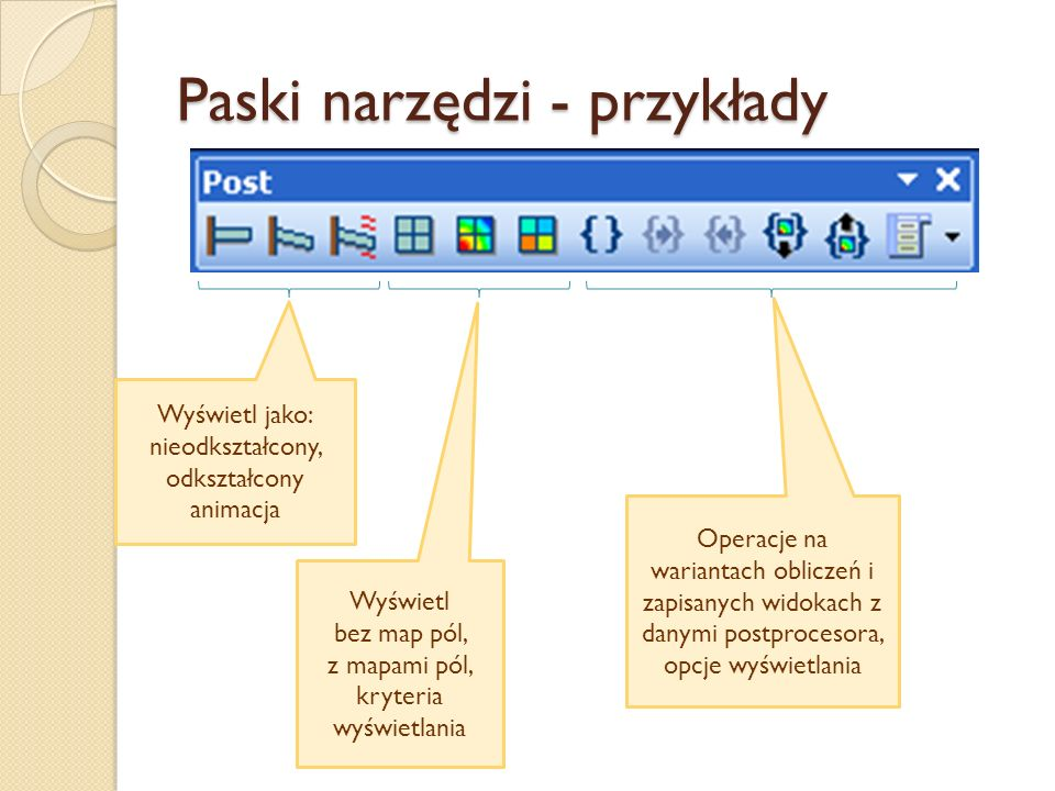 Paski narzędzi - przykłady