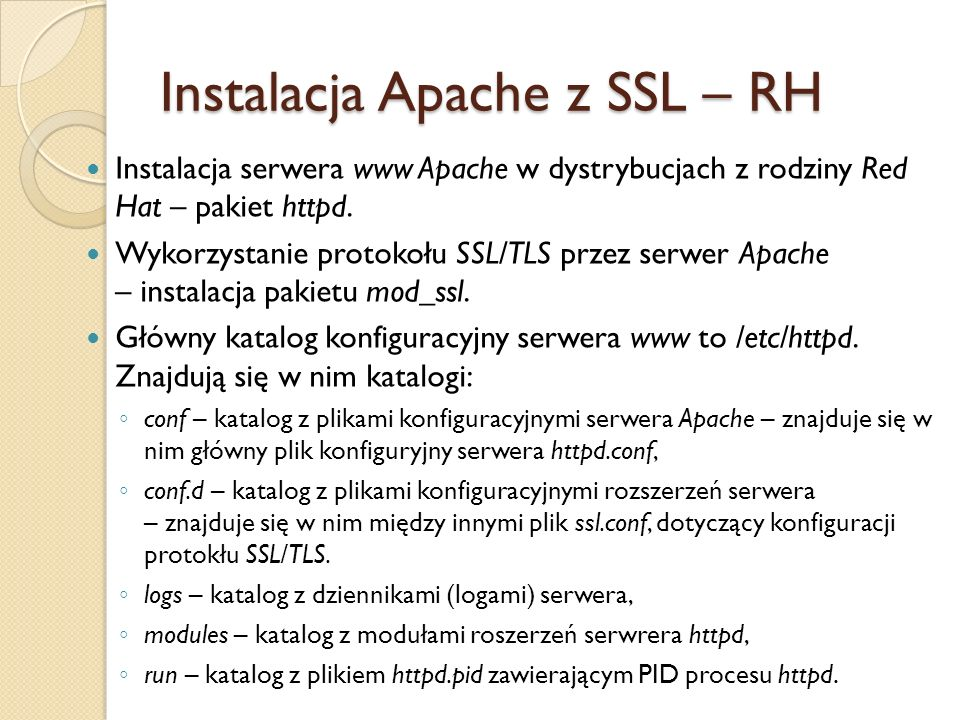 Instalacja Apache z SSL – RH