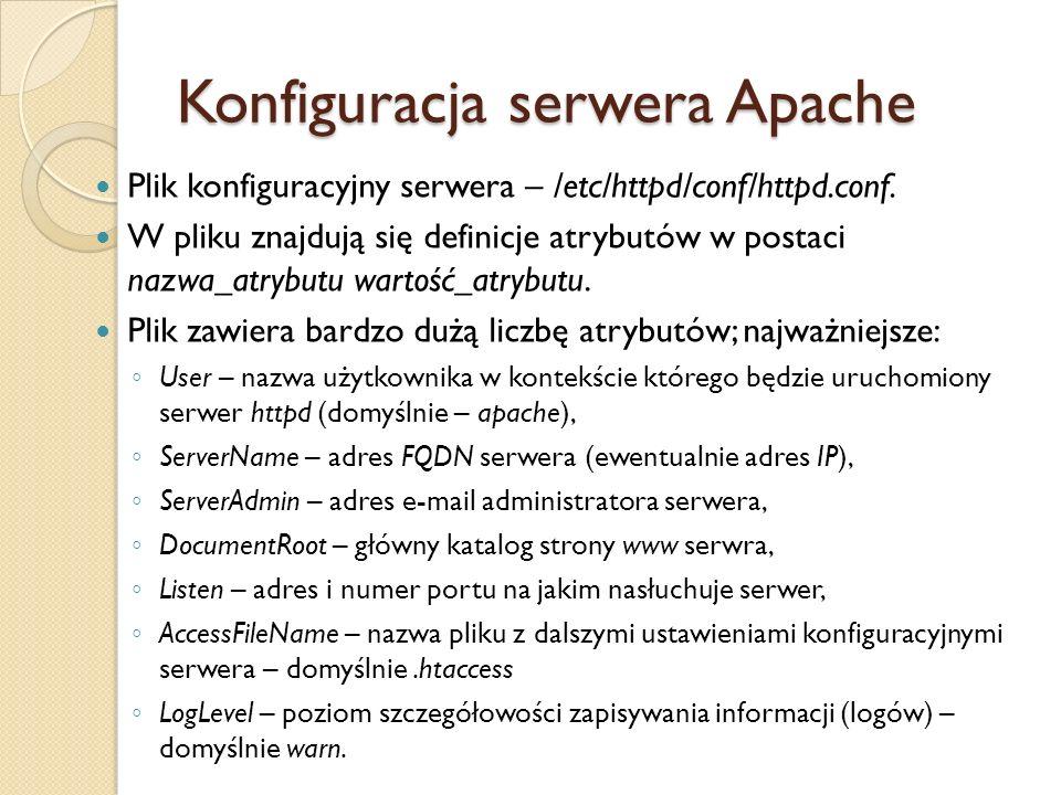 Konfiguracja serwera Apache