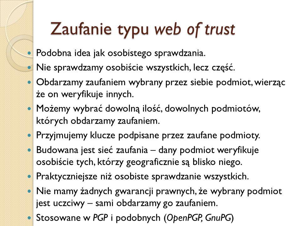 Zaufanie typu web of trust