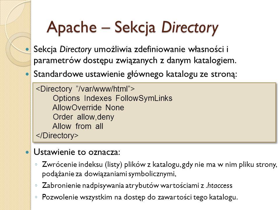Apache – Sekcja Directory