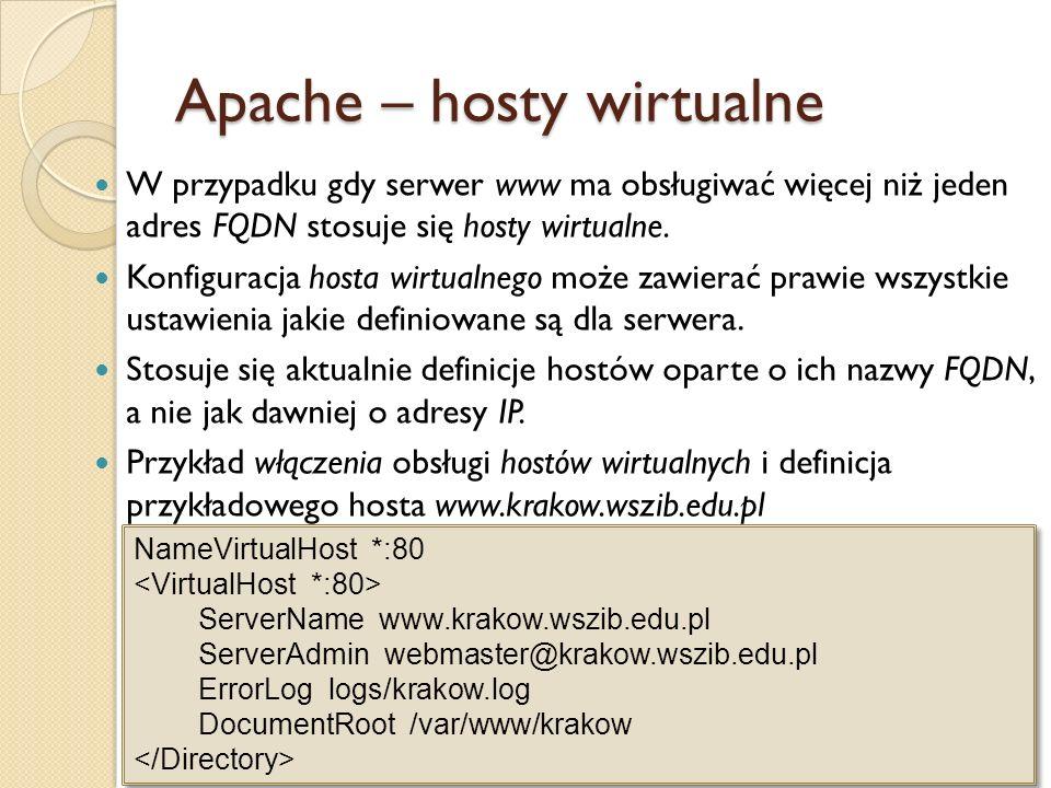 Apache – hosty wirtualne