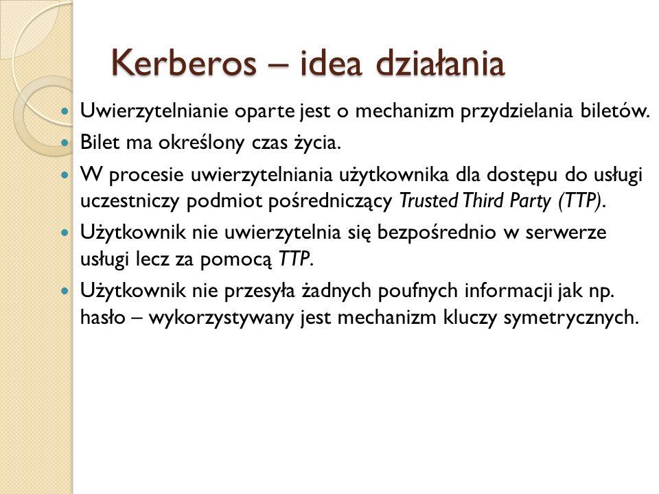 Kerberos – idea działania