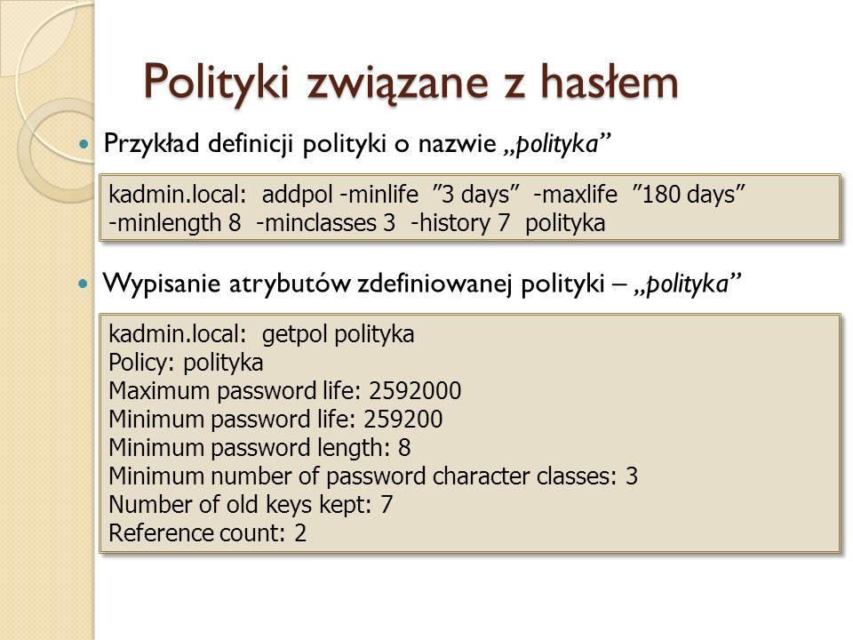 Polityki związane z hasłem