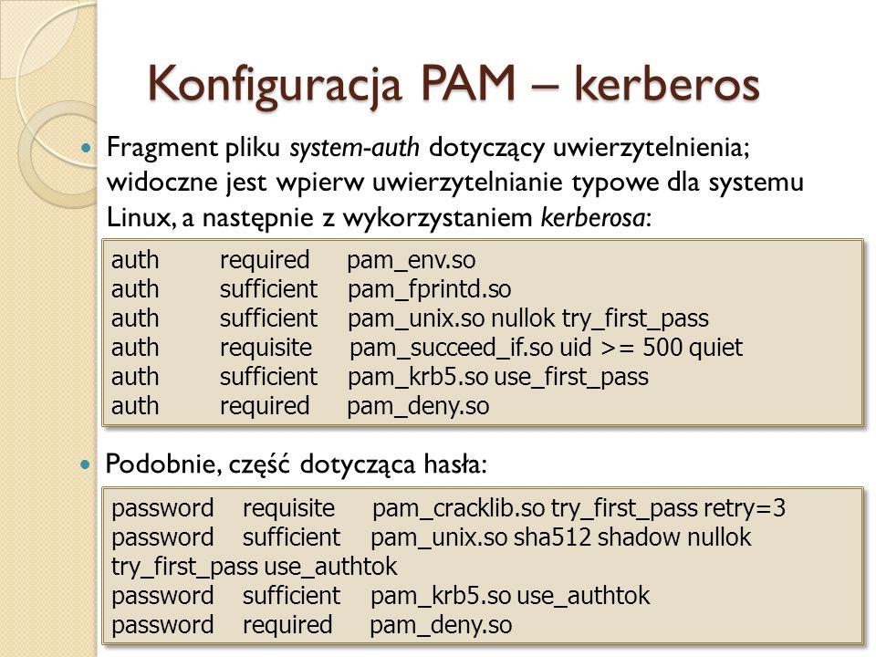 Konfiguracja PAM – kerberos