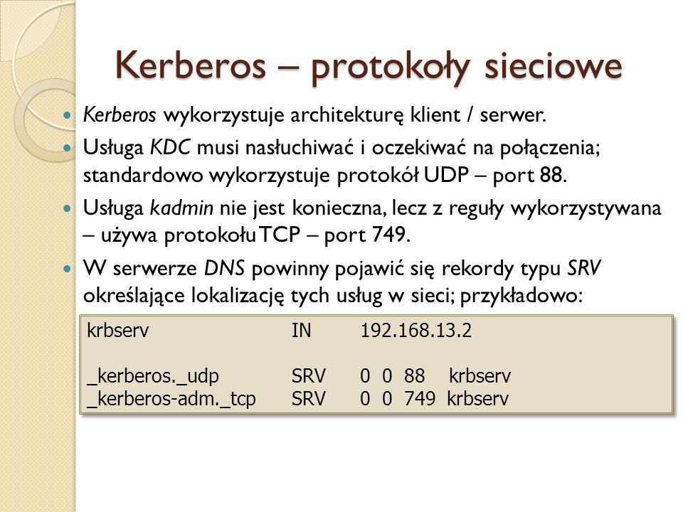 Kerberos – protokoły sieciowe
