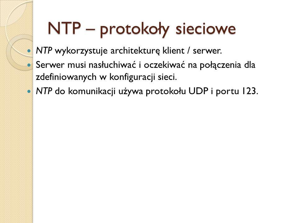 NTP – protokoły sieciowe
