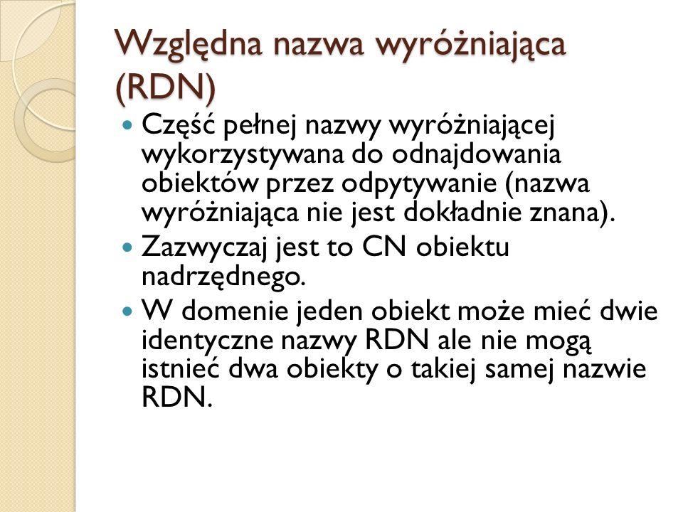 Względna nazwa wyróżniająca (RDN)