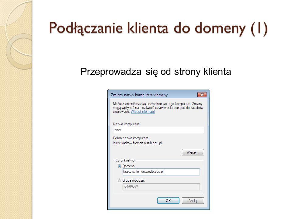 Podłączanie klienta do domeny (1)