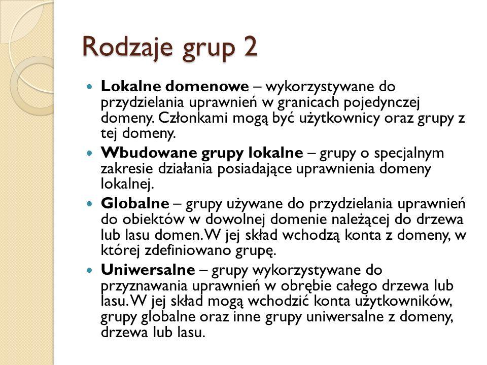 Rodzaje grup 2