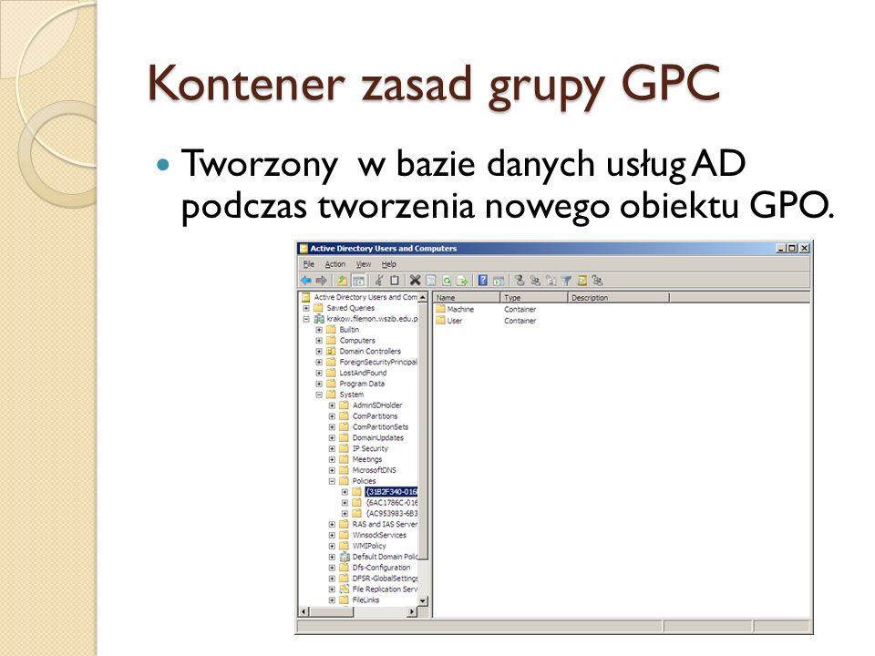 Kontener zasad grupy GPC