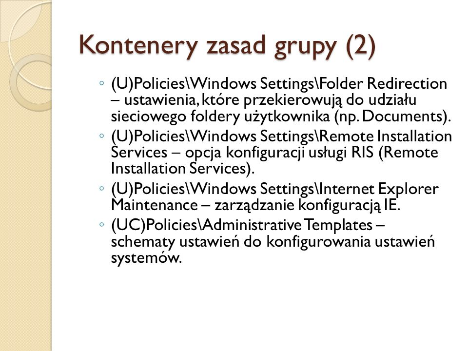 Kontenery zasad grupy (2)