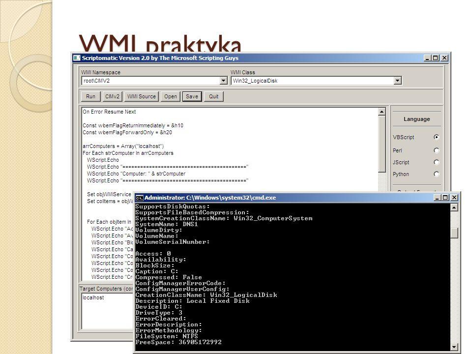 WMI praktyka Stworzenie zapytania WQL, które spełnia wymagania GPO: