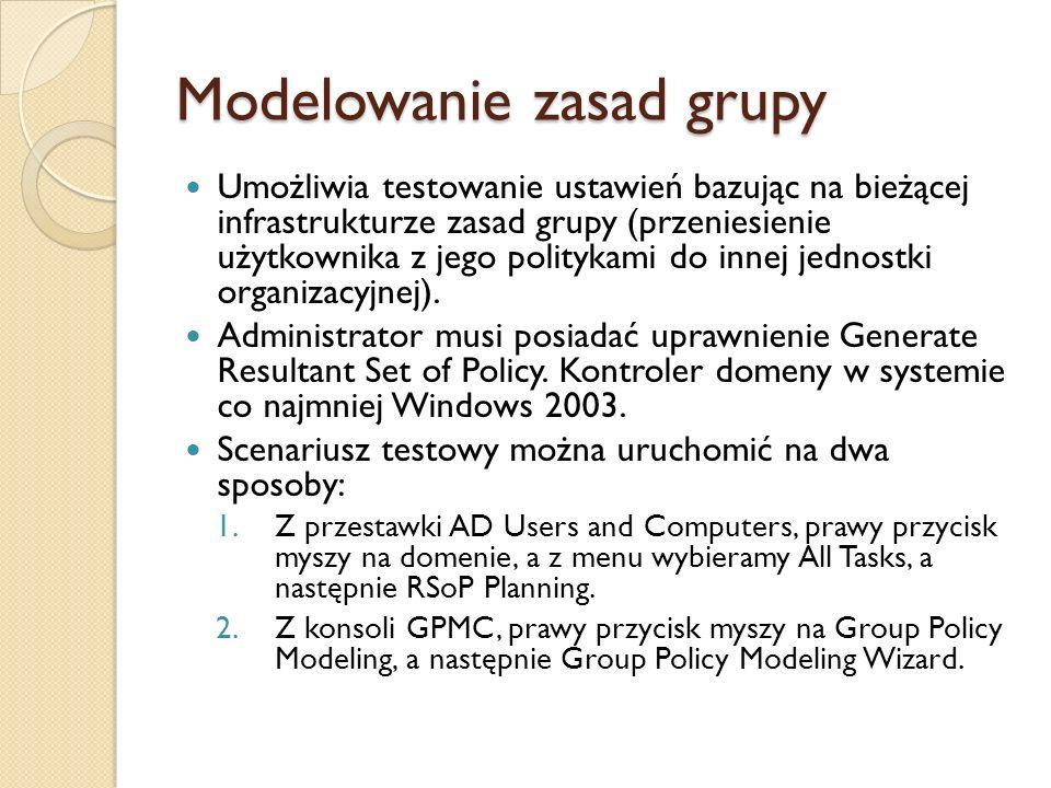 Modelowanie zasad grupy