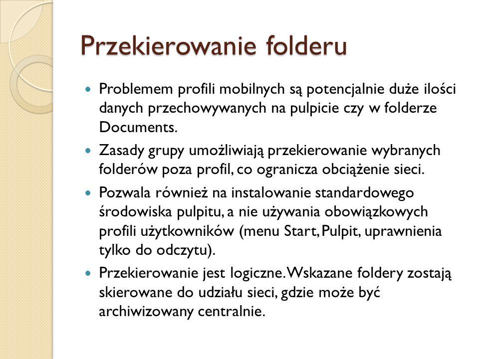 Przekierowanie folderu