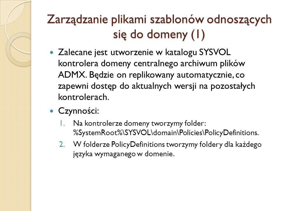 Zarządzanie plikami szablonów odnoszących się do domeny (1)