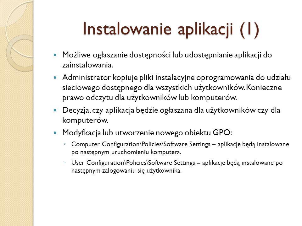 Instalowanie aplikacji (1)