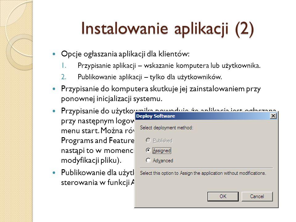 Instalowanie aplikacji (2)