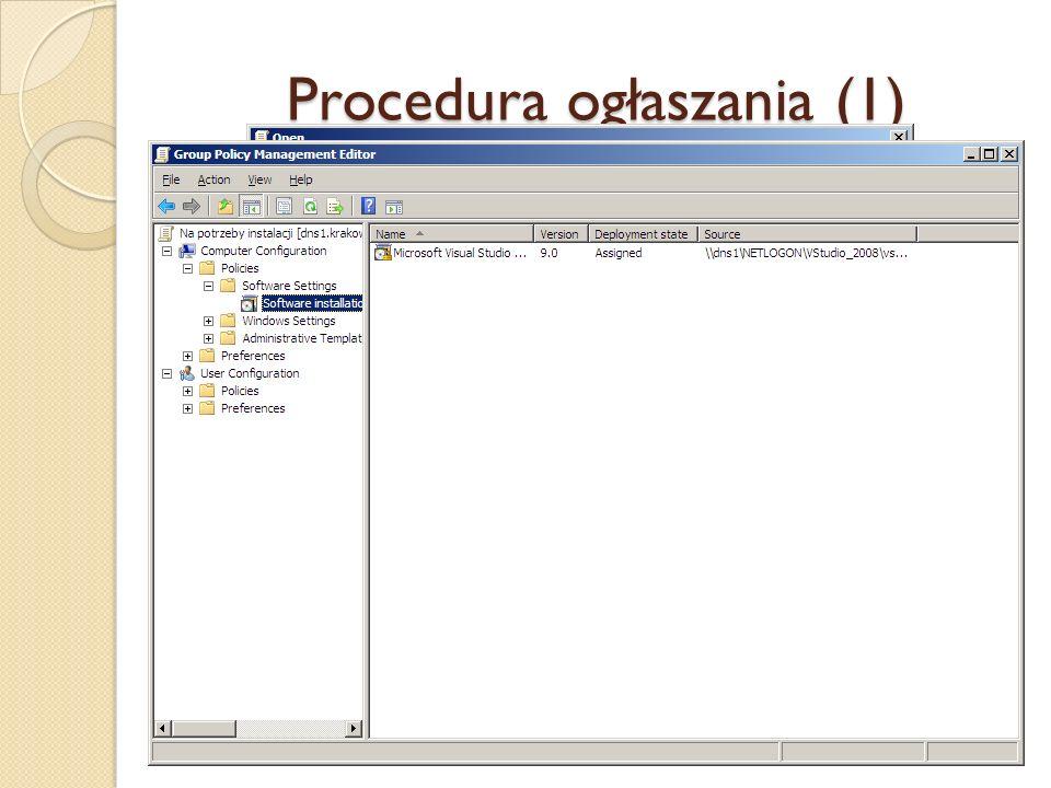 Procedura ogłaszania (1)