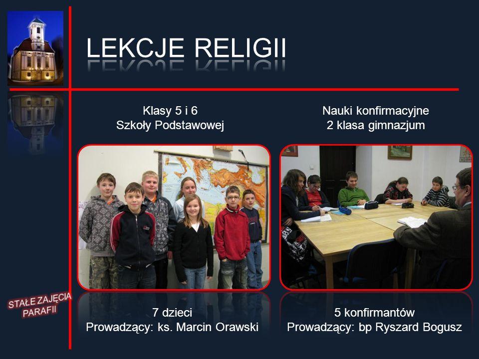 LEKCJE RELIGII Klasy 5 i 6 Szkoły Podstawowej Nauki konfirmacyjne