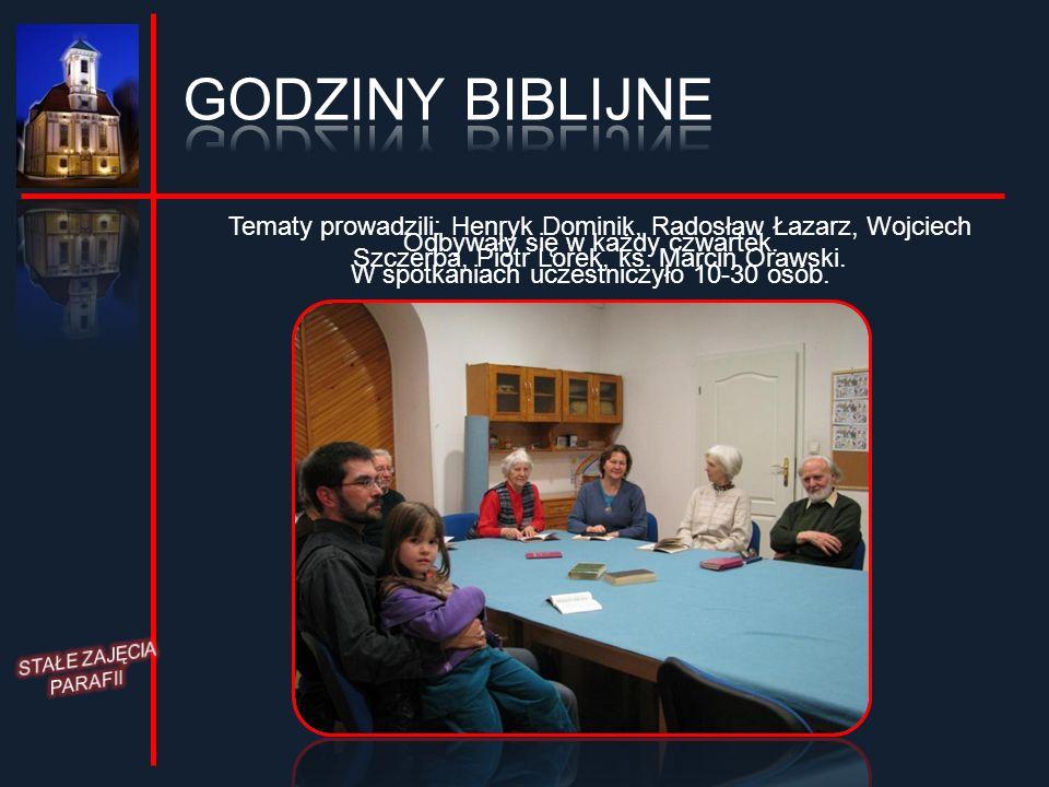 Odbywały się w każdy czwartek. W spotkaniach uczestniczyło 10-30 osób.